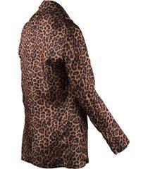 laneus animalier print blazer