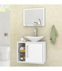 armário de banheiro baden branco - bechara móveis