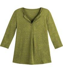 linnen jersey shirt, avocado 40