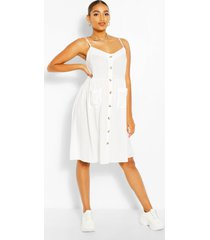 maternity button front cami smock dress
