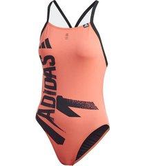 traje de natación adidas naranja sports perfomance thin strap 38 22471