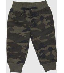 pantalón de buzo básico militar bebo corona