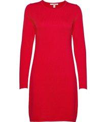 dresses flat knitted kort klänning röd edc by esprit