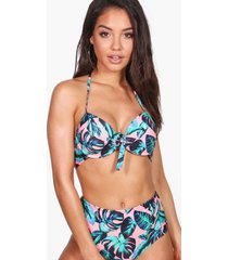mix & match leaf underwire top, coral
