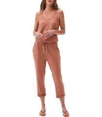 women's michael stars tank style jumpsuit, size x-small - pink