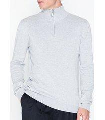 solid draper halfzip knit tröjor grey
