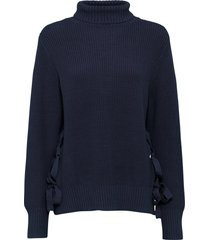 maglione oversize con stringature (blu) - rainbow