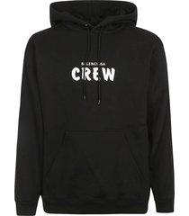 balenciaga crew printed hoodie