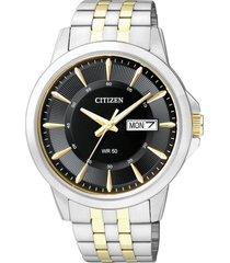 reloj  classic quartz plateado citizen