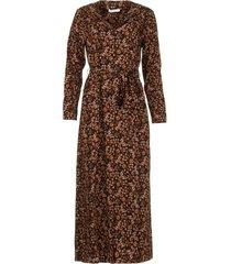 doorknoop jurk met ceintuur vikas  zwart