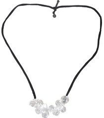 maria calderara glass detailed necklace