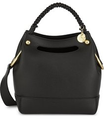 see by chloé women's mini maddy leather hobo bag - black