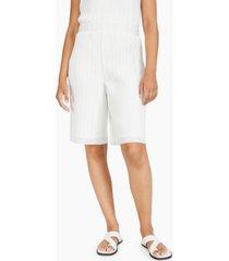 alfani pleated high-rise shorts, created for macy's