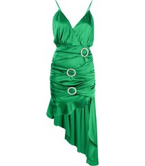 for love and lemons embellished buckle dress - green