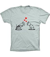 camiseta lu geek manga curta amor de cão prata