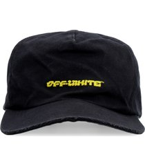 off-white embroidered baseball cap