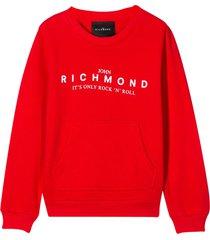 richmond printed sweater