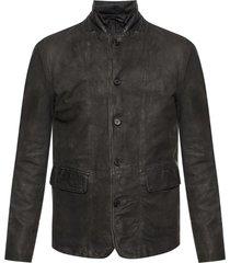 'survey' leather jacket