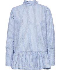 aldina shirt overhemd met lange mouwen blauw by malina