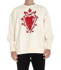 alexander mcqueen heart print sweatshirt