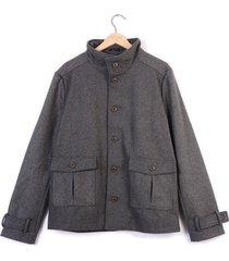 chaqueta color siete para hombre - gris