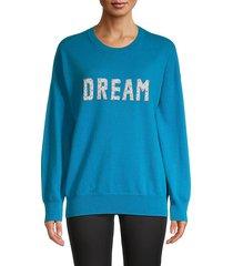 embellished-logo wool & cashmere-blend sweater