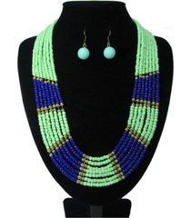 collar artesanal verde sasmon cl-12346