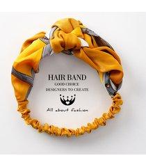 fascia capelli in tessuto stampa vogue