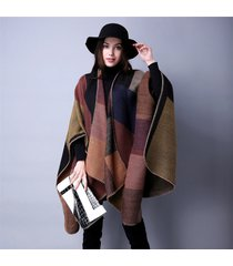national thickening mantle women winter shawl fashion pashmina cape outerwear