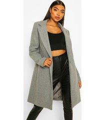 tall nepwollen jas, grey