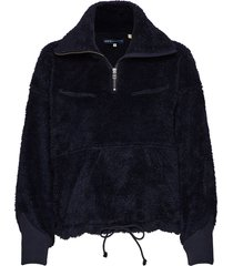 lmc sherpa track popover navy sweat-shirt trui blauw levi's made & crafted