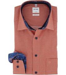 olymp overhemd luxor comfort fit oranje