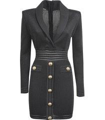 balmain button-embellished dress