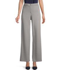 eileen fisher women's high-waist straight pants - zinc - size xl