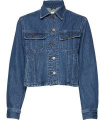 cropped rider jacket jeansjack denimjack blauw lee jeans