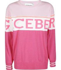 iceberg pink cotton sweatshirt