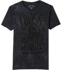 camiseta john john rx tough battle malha algodão cinza masculina (cinza chumbo, gg)