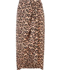 animal wrap midi skirt