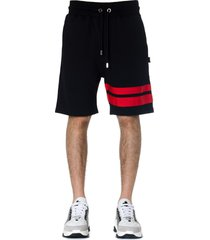gcds black gcds cotton shorts