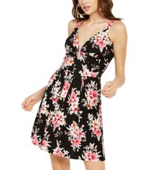 planet gold juniors' floral fit & flare dress