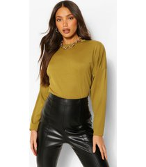 tall rib long sleeve sweater, olive