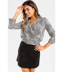 hattie suede mini skirt - black