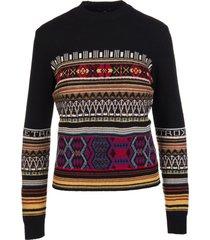 etro woman multicolored jacquard sweater