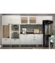 cozinha completa 10 peças americana multimóveis 5652mf branco/grafite