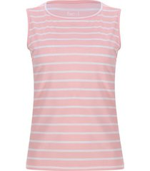 top rosado a rayas color naranja, talla l