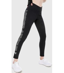 leggings negro-blanco under armour ua favorite wordmark