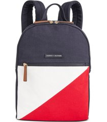 tommy hilfiger canvas th flag backpack