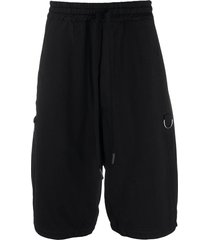 andrea ya'aqov drop-crotch track shorts - black