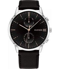 reloj tommy hilfiger 1710406 negro cuero