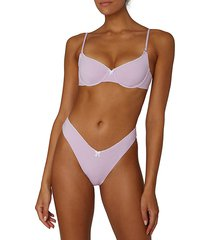 weworewhat women's vintage underwire bikini top - lilac - size l